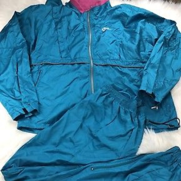 c03f92e6c80a Nike Turquoise Pink Nylon Track Suit